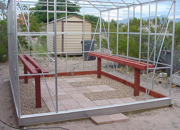 Building Our Harbor Freight 10 X 12 Greenhouse