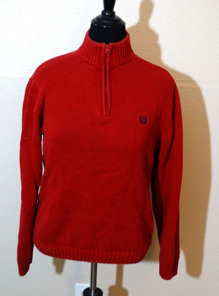 Chaps Red Sweater Long Sleeve Size Medium #Chaps #PullOver | Chaps ...