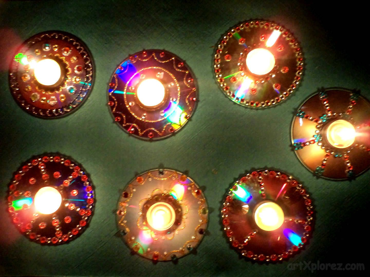 you u0027re ready with your decorative diyas using waste cds