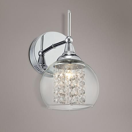 Possini euro design crystal rainfall 10 high wall sconce 10 possini euro design crystal rainfall 10 high wall sconce aloadofball Images