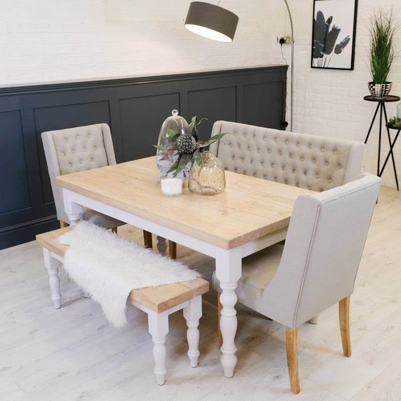 25+ Dining room table with upholstered bench Best Seller