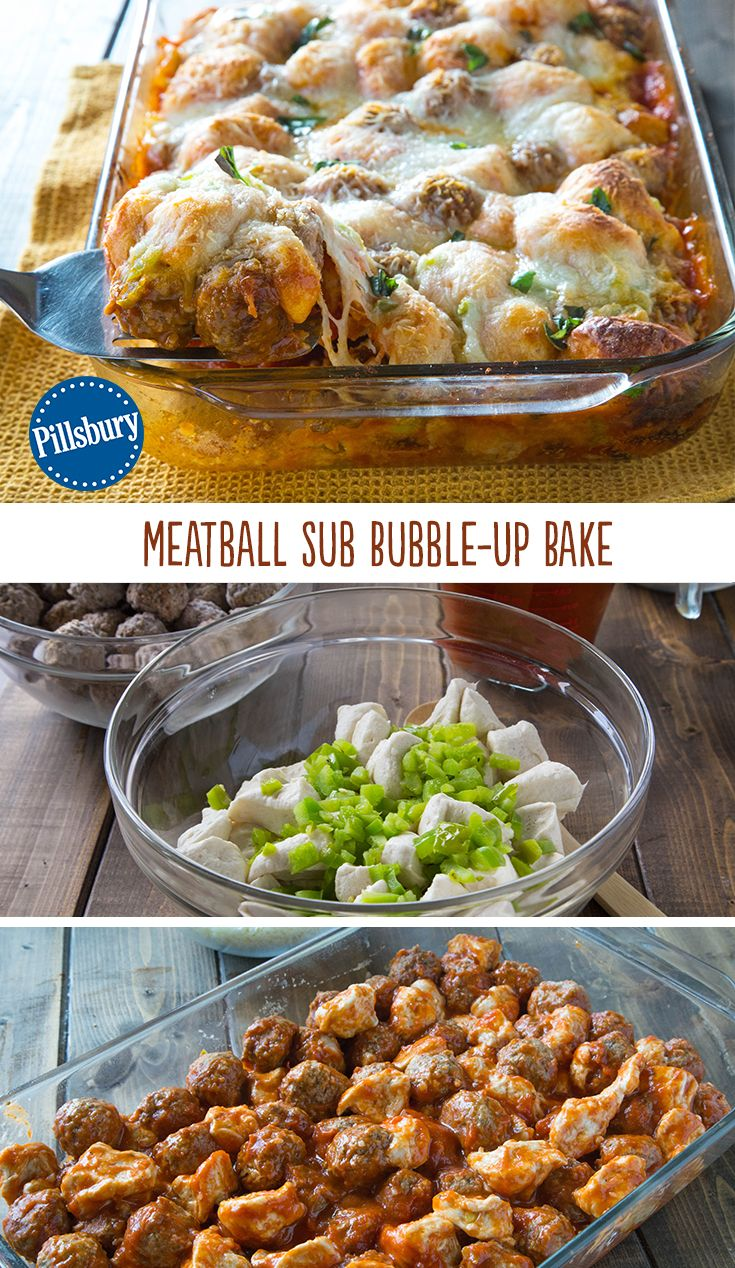 Meatball Sub Bubble Up Bake Recipe Dinner Recipes Pinterest