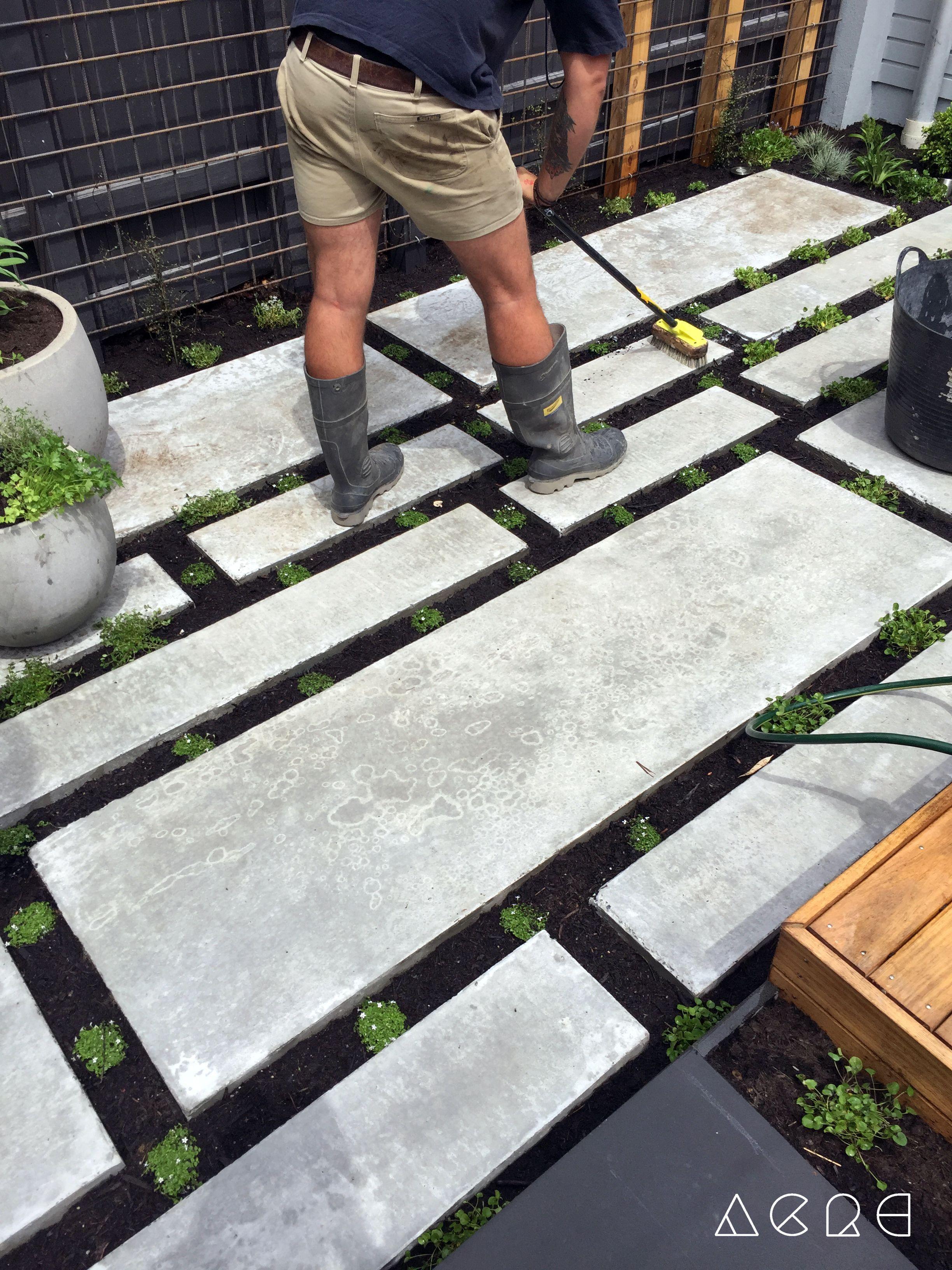 Best 11 poured concrete pavers create a stylish patio