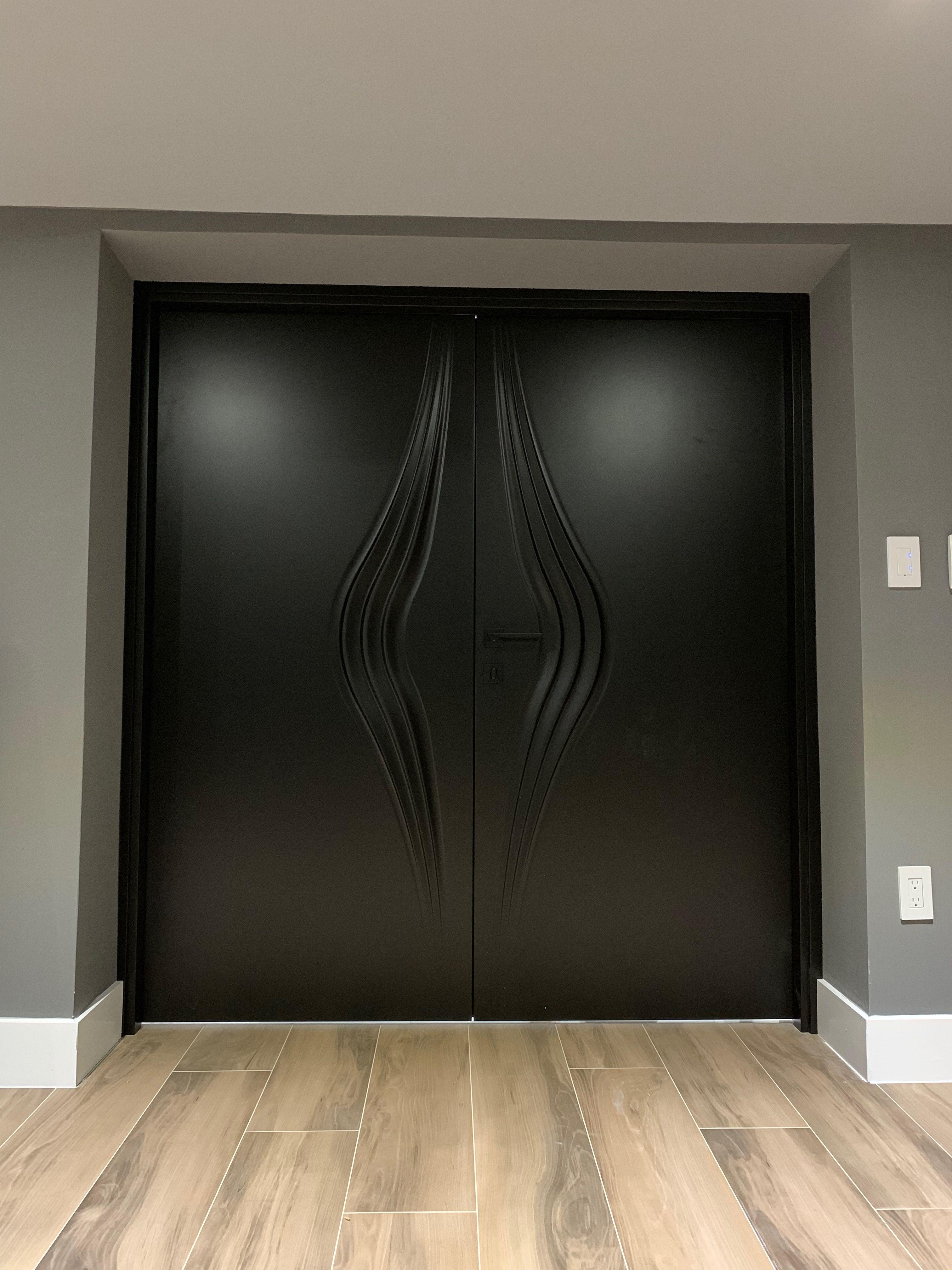 Wave Interior Door Royal White Indigo Doors Doors Interior Doors Interior Modern Double Doors Interior