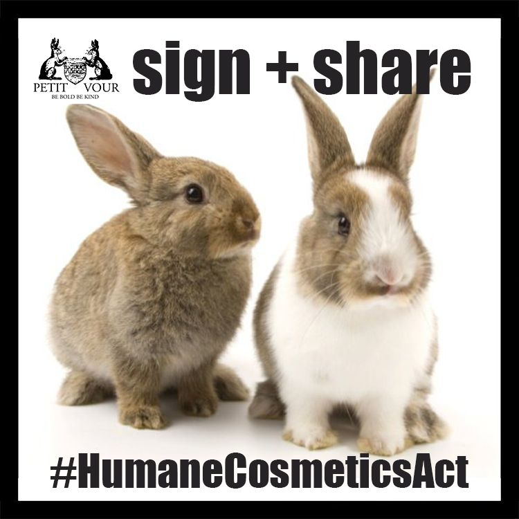 Sign the petition to animal testing for cosmetics in the US and pass it on.