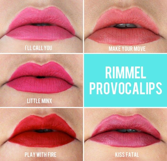 Rimmel Provocalips Swatches  Rimmel Provocalips, Rimmel -7539
