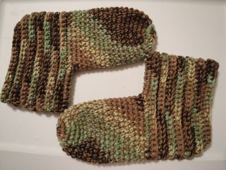 Slipper socks, quick and easy to make and very warm.