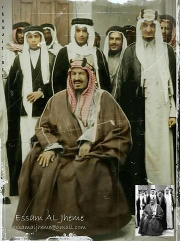 الملك عبدالعزيز بن عبدالرحمن آل سعود مع ابنائه الملك فيصل والملك فهد والملك عبدالله Saudi Arabia Culture Saudi Men Ksa Saudi Arabia