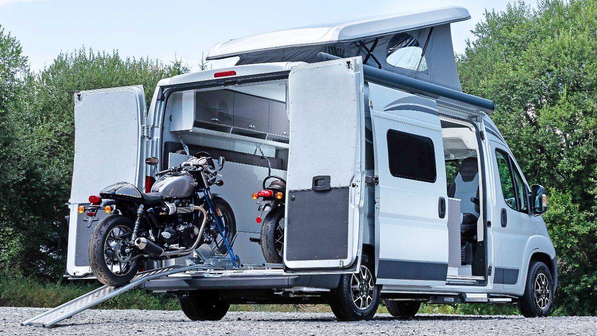 Ein Wohnmobil für Motorradfahrer  Motorrad fahren, Motorrad