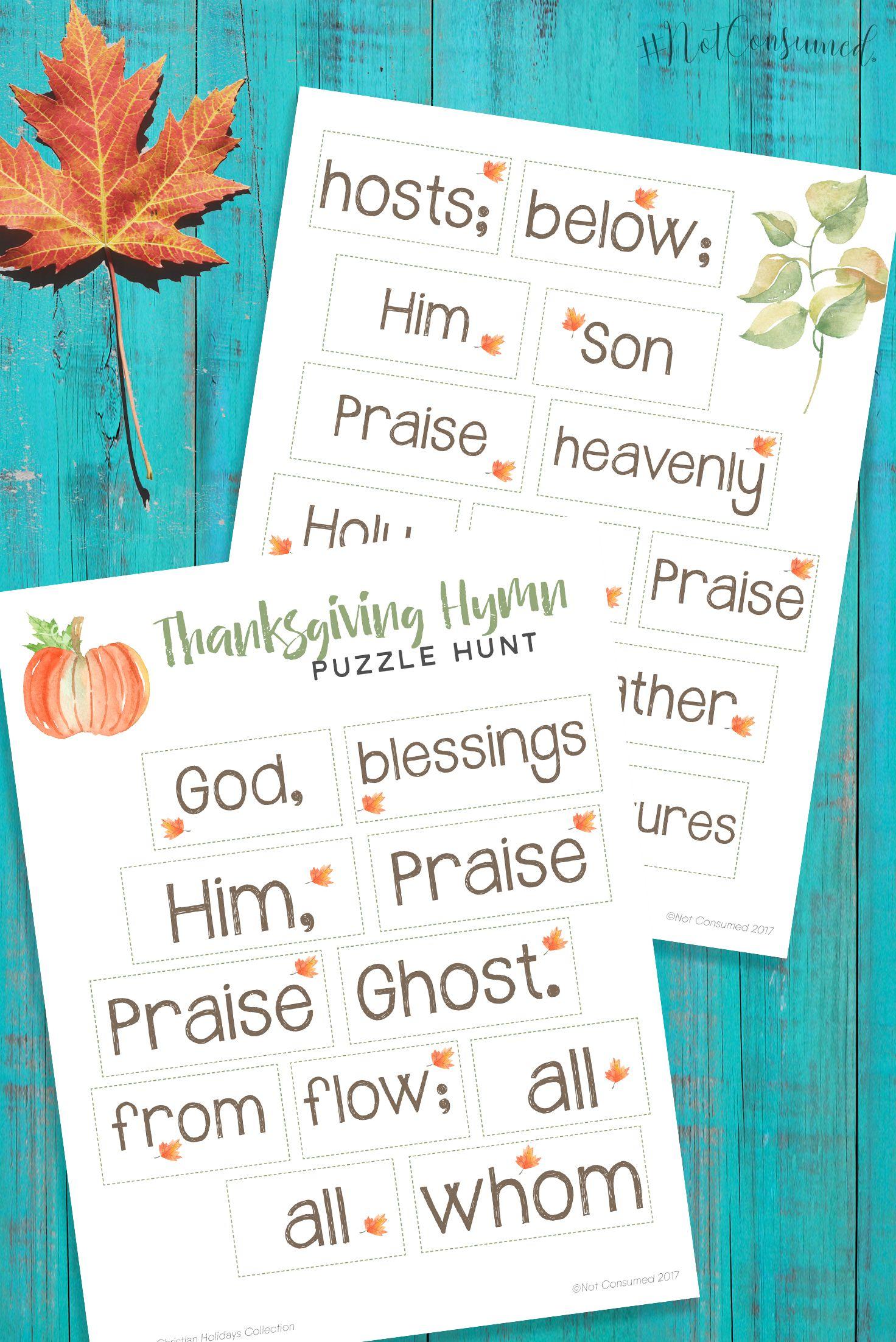4 Free Thanksgiving Printables For Kids