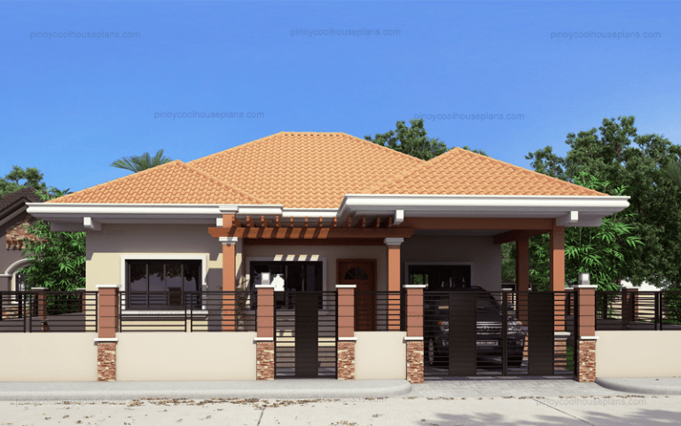 Marie Is Three Bedroom Contemporary Residence It Consists Of 3 Bedrooms Where One Bedroom H Bungalow Style House Plans Bungalow House Design House Roof Design