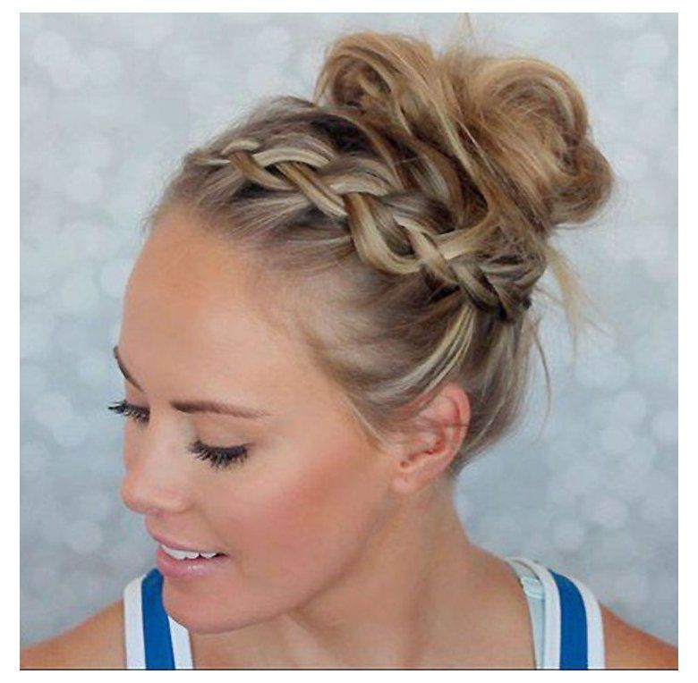 6 Cute Ways To Style Your Bangs When You Re About To Get Sweaty Athletic Hairstyles For Short Hair Easy In 2020 Sporty Hairstyles Athletic Hairstyles Hair Styles