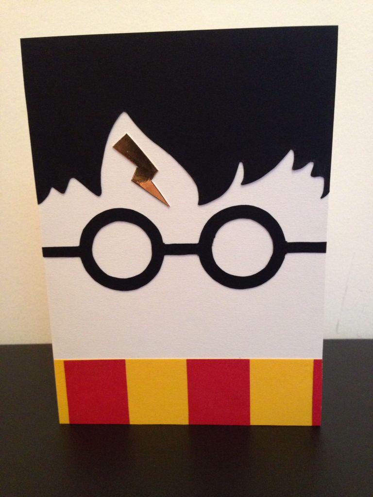Harry Potter Birthday card Made just using coloured card with – Harry Potter Birthday Card