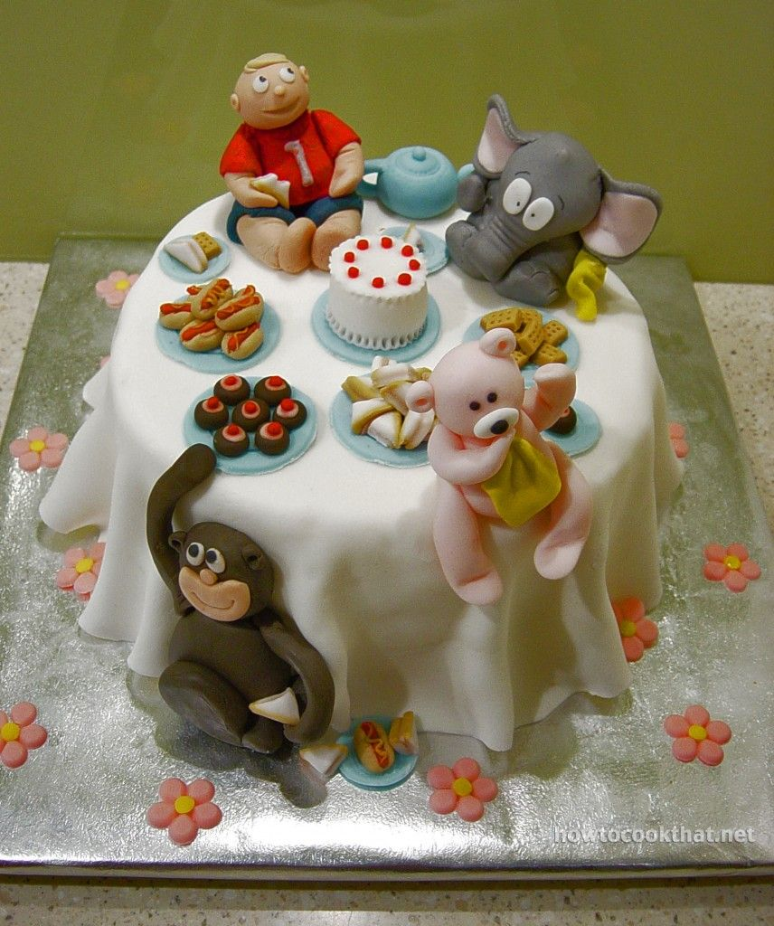 fondant cake decorations first birthday cake ideas monkey teddy