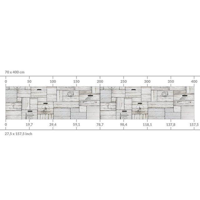 Küchenrückwand »Shabby Holzkisten« #palettenideen