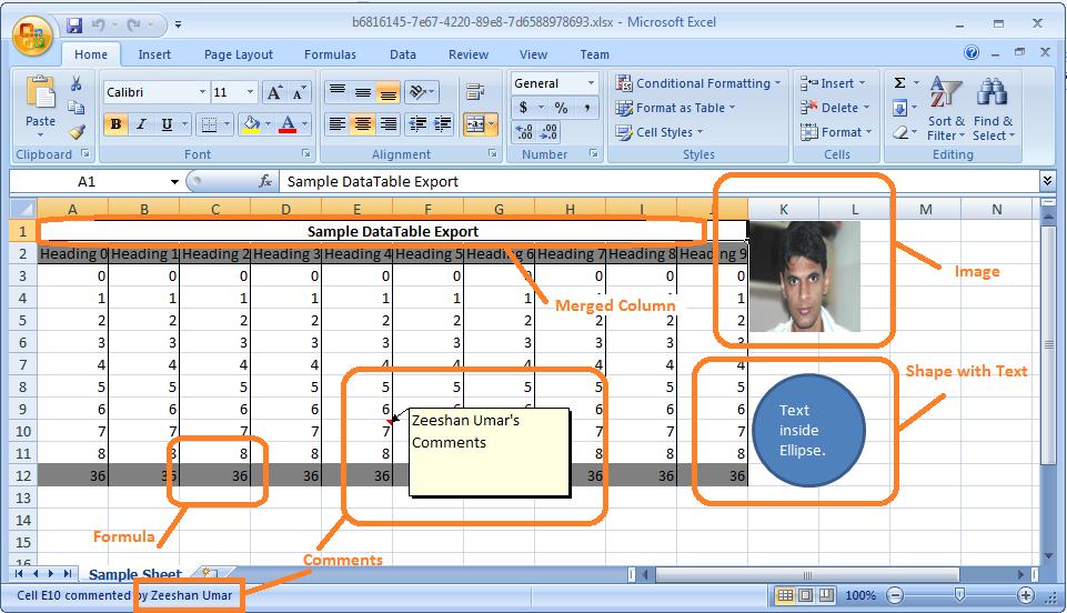 Zeeshan UmarS Net Blog Creating Reports In Excel  Using