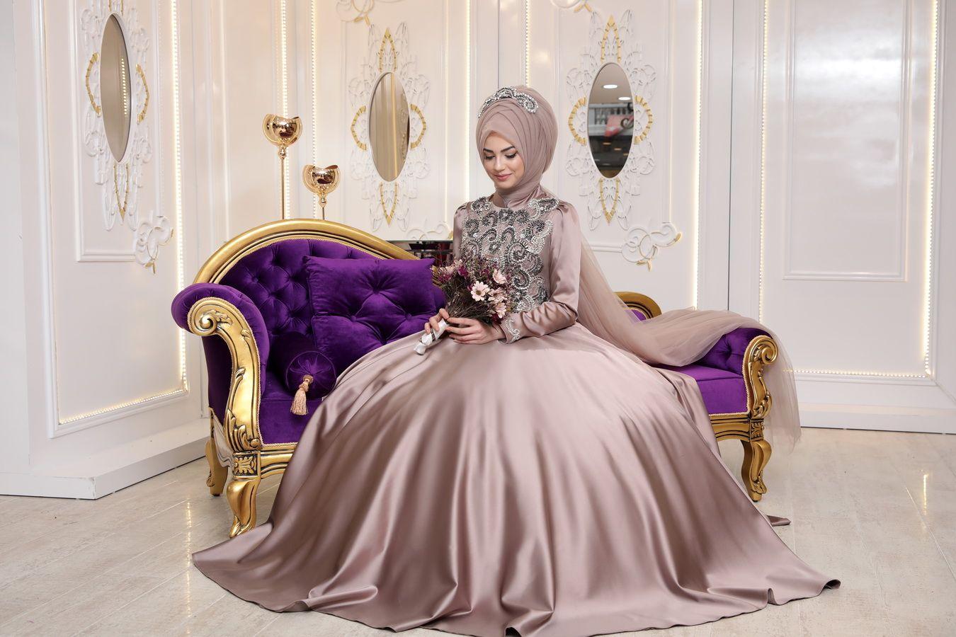 98c8573686446 Pınar Şems Saten Sahra Tesettür Abiye Modelleri | Tesettür | Model ...