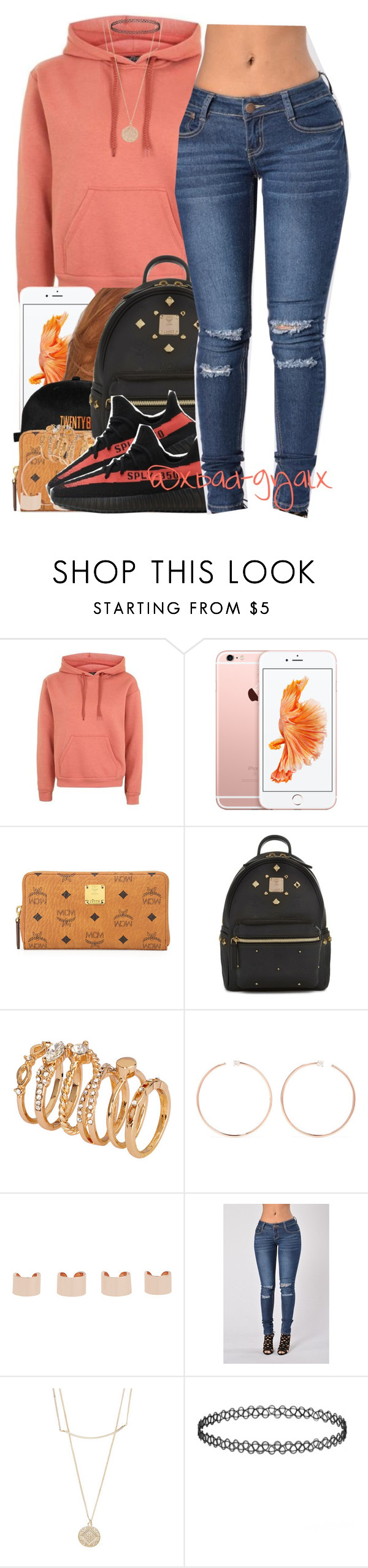 """""""{Last night took an L but, tonight I bounce back}"""" by xbad-gyalx ❤ liked on Polyvore featuring Topshop, MCM, H&M, Anita Ko, Maison Margiela and Accessorize"""
