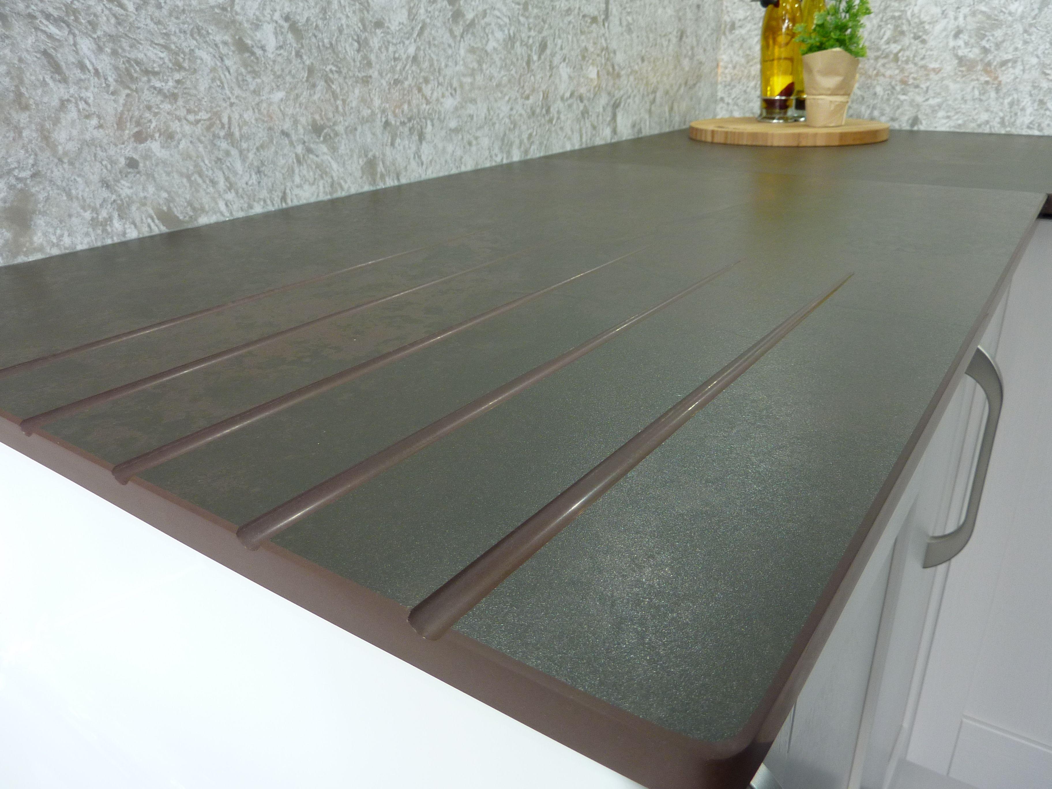 dekton keranium wokksurface with drainer grooves dekton kitchen pinterest cuisines. Black Bedroom Furniture Sets. Home Design Ideas
