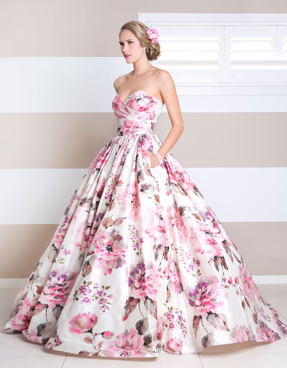 QB loves… coloured wedding gowns | spring style / flowers ...