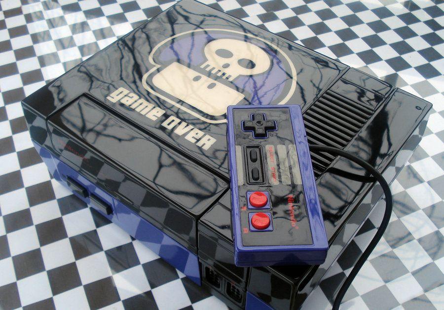 Custom NES! #lukiegames #nes #nintendo #gameover #gamer #gaming #videogames #retrogaming