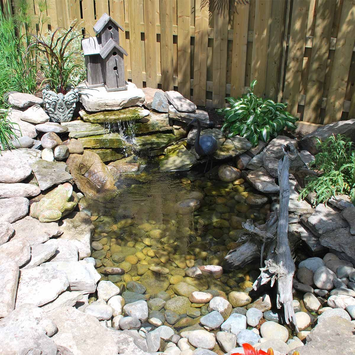 here u0027s a simple and elegant way to add a soothing waterfall to