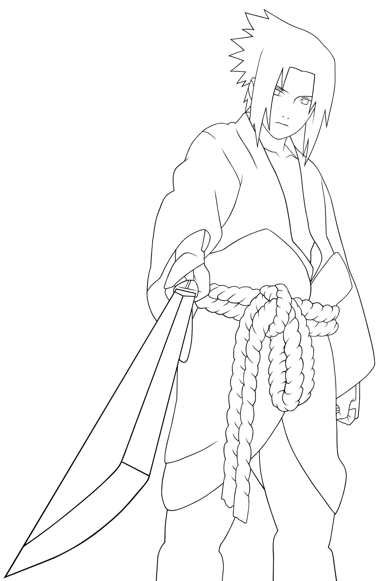 Sasuke and sakura coloring pages coloring pages - Naruto Coloring Pages Coloring Pages Of Epicness Pinterest Naruto And Stenciling
