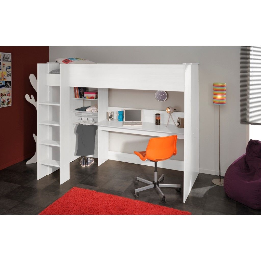 Kids Swan High Loft Sleeper In White With Storage. The fantastic Swan High  Sleeper Bed in White is a great addition to older kids and teens bedrooms,  ...
