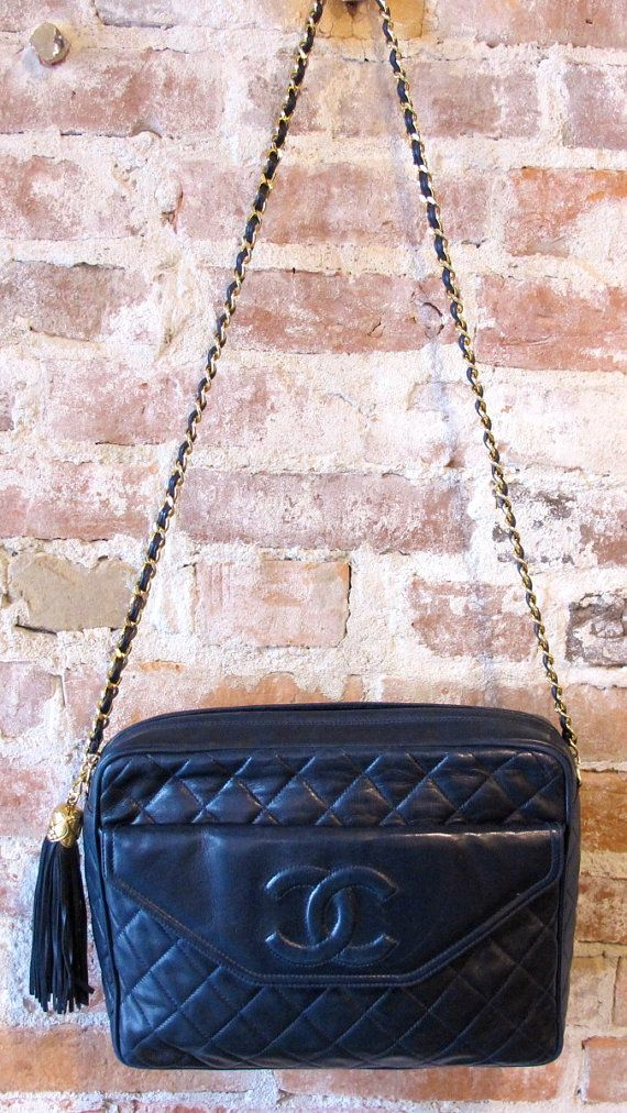 d9a83ebd57b8 Chanel Lambskin Vintage Camera Bag Tassel by stateandmainvintage ...