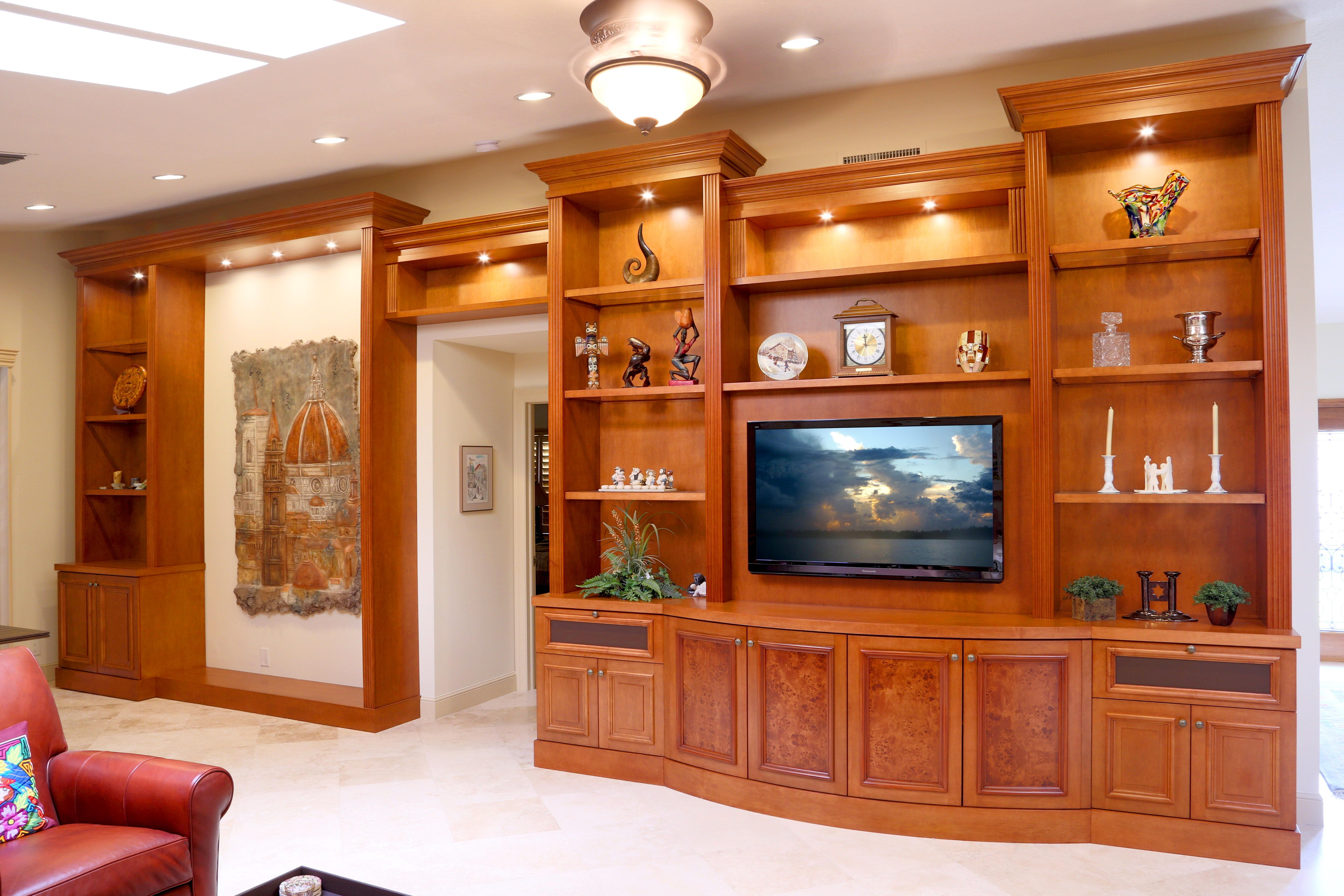 This is a custom wall unit located in Buena Vida in Wellington. This ...
