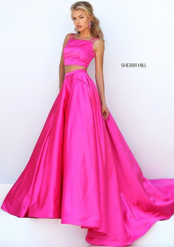 Prom Dresses, Celebrity Dresses, Sexy Evening Gowns: Two Piece Sherri Hill  Dress with A-Line Skirt