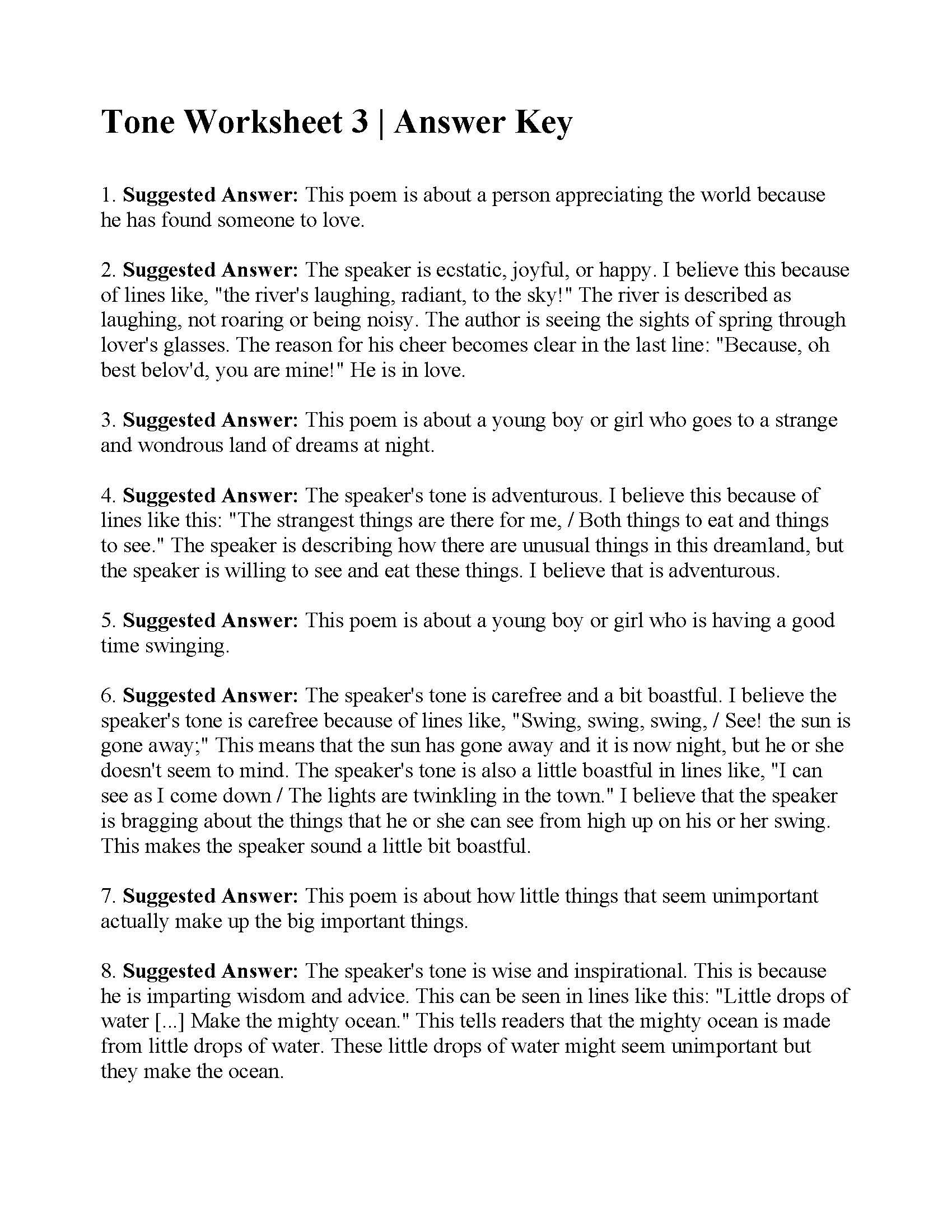 Pin By Beth Moore On Reading Poetry Worksheets Worksheets Writing Sentences Worksheets