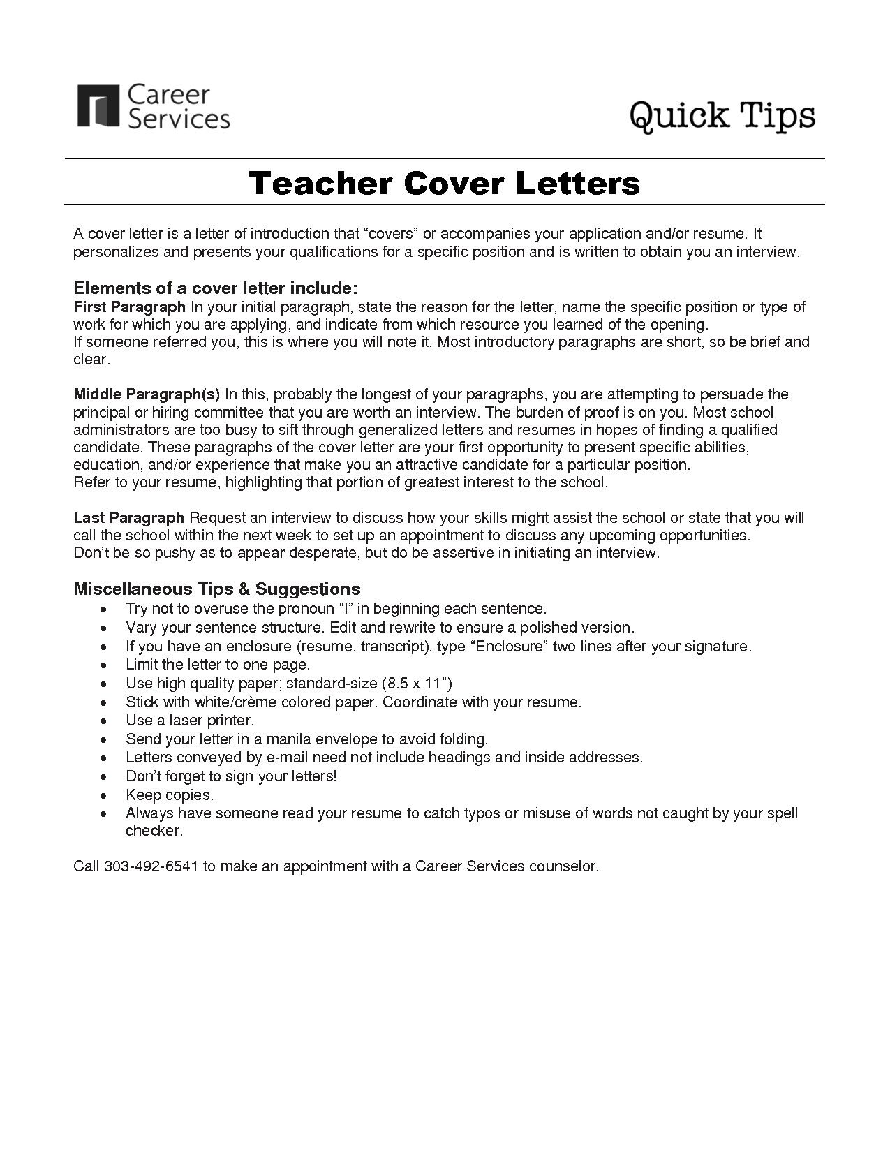 Elementary School Teacher Cover Letter Samples With Images