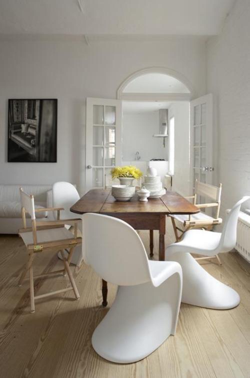 Panton Chair Esszimmerstuhl weiß - POPfurniture.com ...