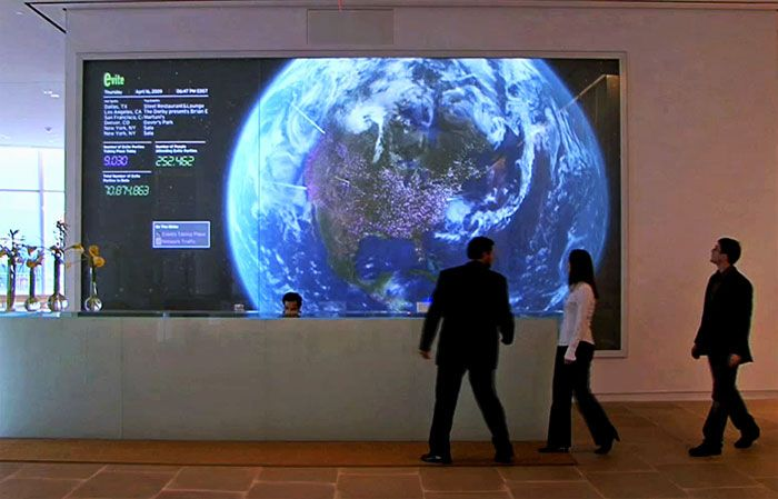 This interactive map wall behind reception at iac allows the user to this interactive map wall behind reception at iac allows the user to move the globe to whatever part of the world they are interested in gumiabroncs Choice Image