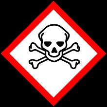Poison Hazard Symbol Pictogram Vinyl Sticker