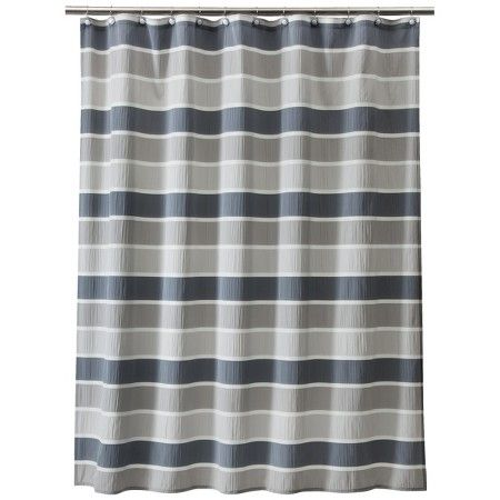 Threshold™ Seersucker Shower Curtain - Gray : Target