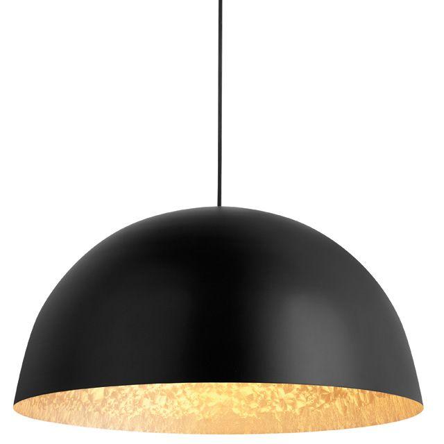Suspension COLOURS Kapsel noir doré ˜45 x h 22 cm
