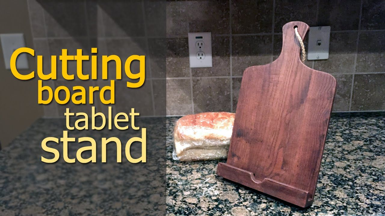 Cutting board tablet stand diy ipad stand from reclaimed wood