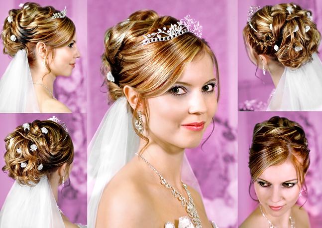 Frisuren Hochzeit Mittellang Mit Dekorativen Krone Auf Brautfrisur Frisur Hochzeit Frisuren Hochzeit