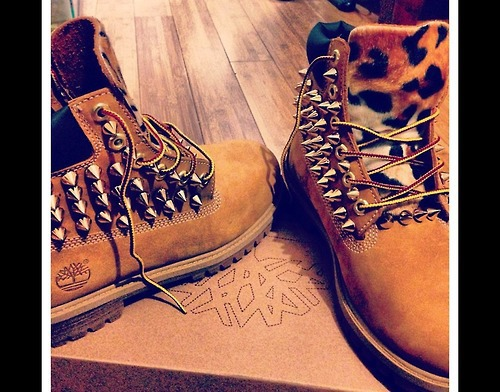 Cheetah Spiked Timberlands ☺. ☺