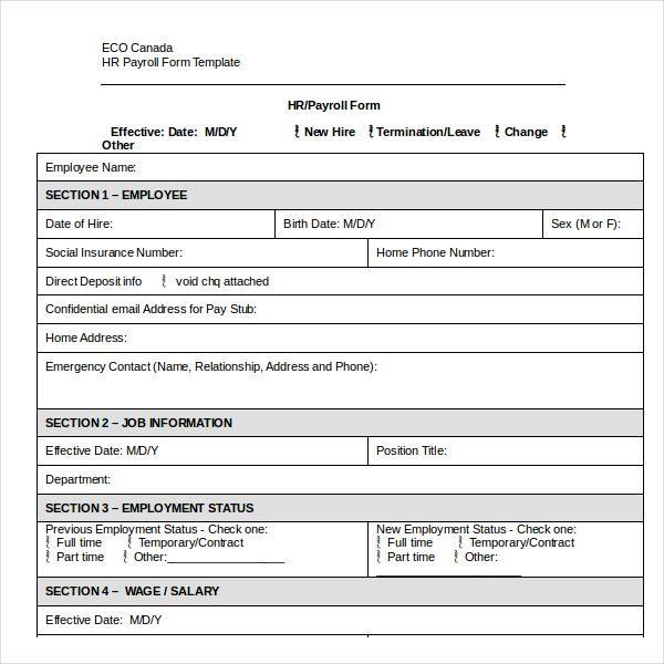 8 sle employee status change forms pdf word News to Go 3