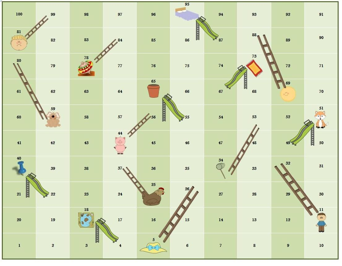 Chutes N Ladders With Cvc Rhyme Words Number Recognition
