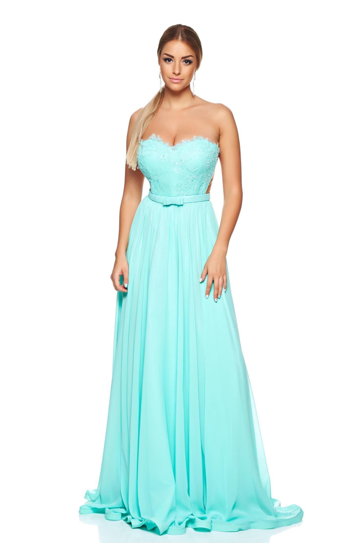 Ana Radu Ideal Diva Mint Dress, push-up bra, bright details, lace ...