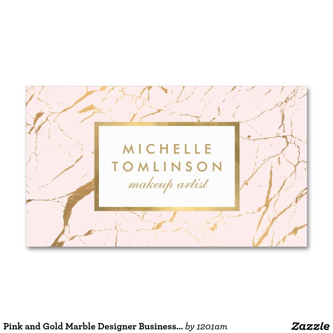 Pink and Gold Marble Designer Business Card | Gold marble, Business ...