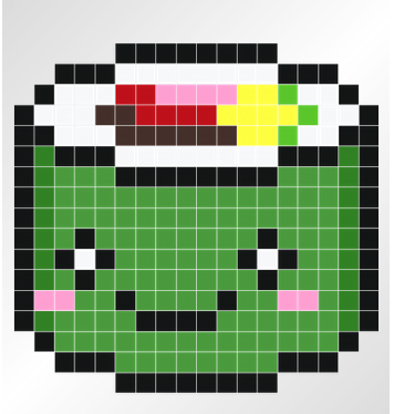 Kawaii Sushi Wall Decals Pixel Art Grid Minecraft Pixel