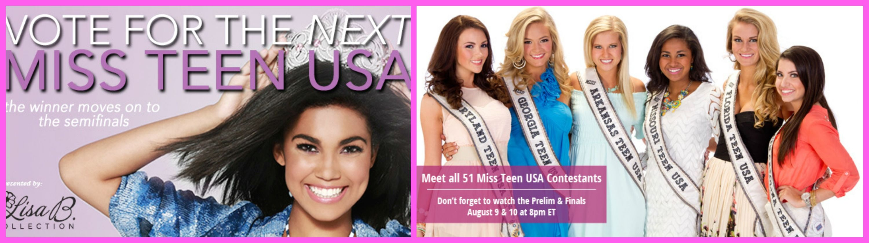 Miss Teen USA is arouhttp://www.allglamallthetime.com/2013/07/miss-teen-usa-2013-pageant-will-be-held.htmlnd the corner !