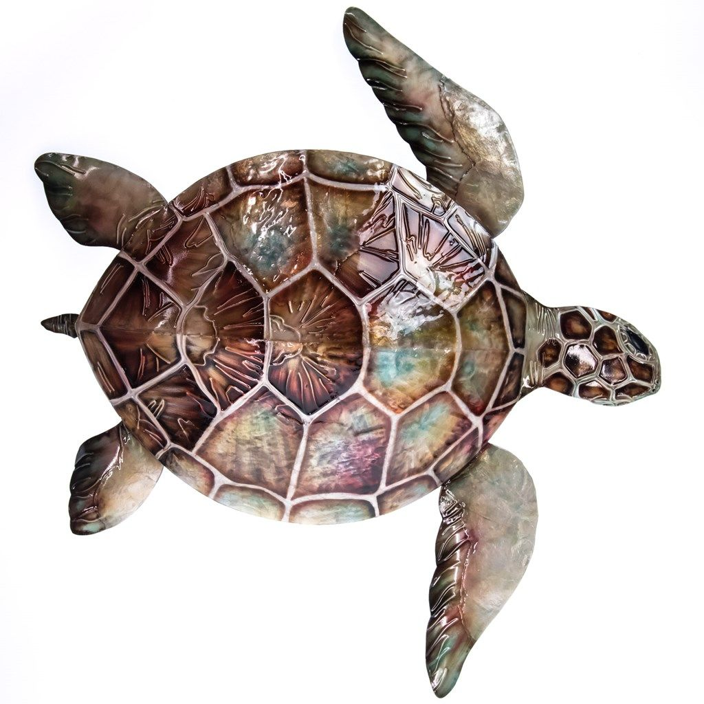 Metal Turtle Wall Decor Collections Coastal Er Barrel Old Country