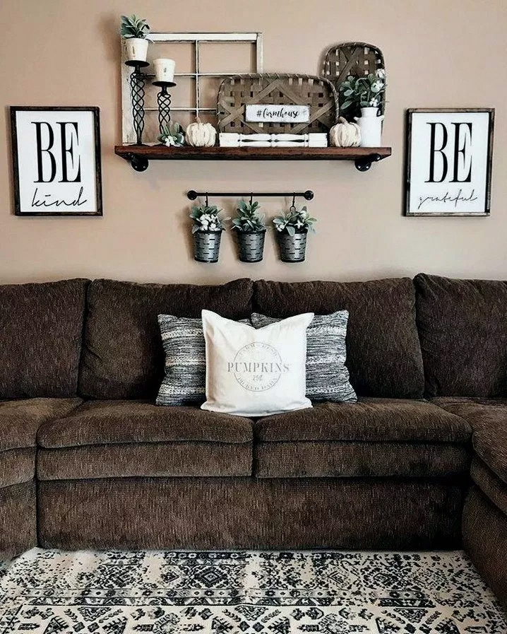 46 Rustic Farmhouse Living Room Design And Decor Ideas For Your Home Farmhousedecor Farm Farmhouse Decor Living Room Living Room Remodel Popular Living Room