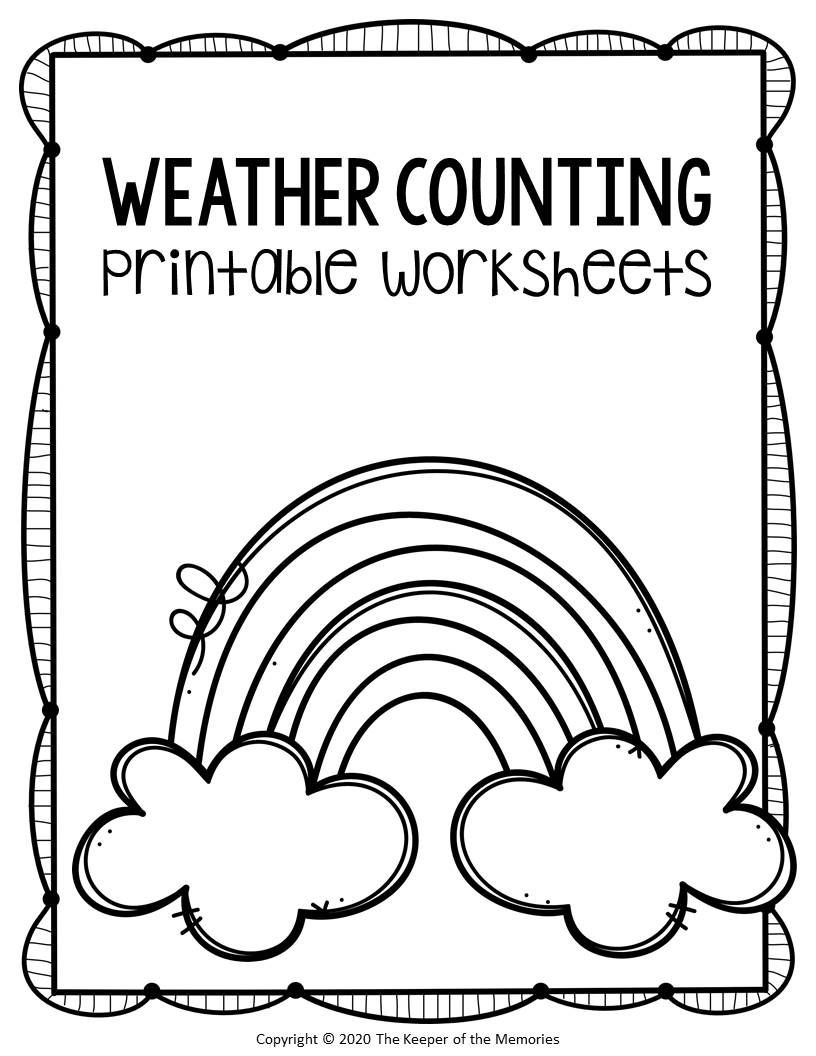 Free Printable Counting Preschool Weather Worksheets Weather Worksheets Preschool Weather Preschool Monthly Themes [ 1056 x 816 Pixel ]